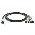 Cable de Breakout Twinax 1m de Cobre 100G QSFP28 a 4x25G SFP28 de Conexión Directa Pasivo - Compatible con H3C QSFP28-4SFP28-CU-1M