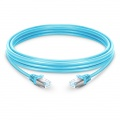 33ft (10m) Cat6a Snagless Shielded (SFTP) LSZH Ethernet Network Patch Cable, Aqua