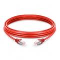 5m, cable de red Ethernet Cat6 snagless blindado (SFTP) PVC, rojo