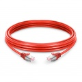 Cable de red Ethernet LAN RJ45 S/FTP Cat6 10m 10/100/1000 Mbps hasta 10 Gbps PVC - rojo