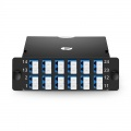 FHD 2x MTP®-12 Cassette, 24 Fibers OS2 Single Mode, Type A, 2x 12F MTP® to 12x LC Duplex (Blue), 0.35dB max