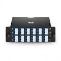 FHD MTP® Kassette, 2x MTP®-12 auf 12x LC Duplex, Polarität A, 24 Fasern OS2 Singlemode