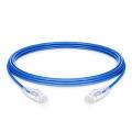 16ft (4.9m)Cat6 ツメ折れ防止 シールドなし(UTP)スリムイーサネットネットワーク用LANパッチケーブル(PVC CM、青色)