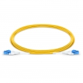 5m (16ft) LC UPC to LC UPC Uniboot Duplex OS2 Single Mode PVC (OFNR) 3.0mm BIF Fiber Optic Patch Cable