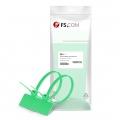 Attaches de Câble en Nylon avec Plaque de Marquage ID 100pcs/Paquet 6in.L x 0,15in.W - Étiquette Extérieure - Vert