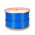 Cat7 Ethernet Solid Bulk Cable, 1000ft, S/FTP, 23AWG, PVC CMR, Blue