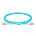 Customized LC/SC/FC/ST Duplex 0.15dB IL OM3 Multimode Bend Insensitive Fiber Optic Patch Cable