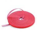 25m/Roll 1000in.L x 0.48in.W Back to Back Reusable Cable Ties-Red