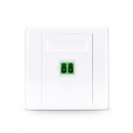 Single Port Fibre Optic Wall Plate Outlet, LC Duplex APC OS2 Single Mode, Straight