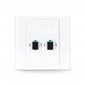 2-Port Fibre Optic Wall Plate Outlet, SC Simplex UPC OM3/OM4 Multimode, Straight