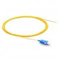 2m (7ft) SC UPC Simplex OS2 Single Mode PVC (OFNR) 0.9mm Fiber Optic Pigtail