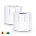 2.76in.L x 0.94in.W P Type Cable Adhesive Label Paper-1000pcs/roll, White