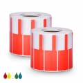 2.76in.L x 0.94in.W P Type Cable Adhesive Label Paper-1000pcs/roll, Red