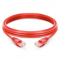 98ft(30m) Cat6 Ungeschirmtes (UTP) LSZH Ethernet Patchkabel, Snagless, Rot