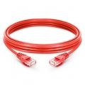 197ft(60m) Cat6 Ungeschirmtes (UTP) LSZH Ethernet Patchkabel, Snagless, Rot