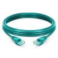6.6ft (2m) Cat5e Snagless Unshielded (UTP) PVC Ethernet Network Patch Cable, Green