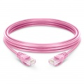 6.6ft (2m) Cat5e Snagless Unshielded (UTP) PVC Ethernet NetworkPatch Cable, Pink