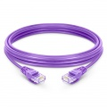 197ft (60m) Cat5e Snagless Unshielded (UTP) PVC Ethernet Network Patch Cable, Purple