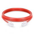 Cable de Red Ethernet LAN RJ45 UTP Cat 5e 1m 10/100/1000 Mbps PVC Rojo