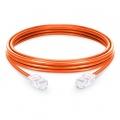3.3ft (1m) Cat5e Non-booted Unshielded (UTP) PVC Ethernet Network Patch Cable, Orange