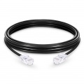 6.6ft (2m)Cat5e 保護カバーなし シールドなし(UTP)イーサネットネットワーク用LANパッチケーブル(PVC、黒色)