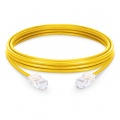 6.6ft (2m) Cat5e Non-booted Unshielded (UTP) PVC Ethernet Network Patch Cable, Yellow