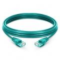 10ft(3m) Cat5e ツメ折れ防止 シールドなし(UTP)イーサネットネットワーク用LANパッチケーブル(LSZH、緑色)