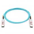 Cable Óptico Activo 100G QSFP28 a QSFP28 20m (66ft) - Compatible con HW QSFP-100G-AOC20M
