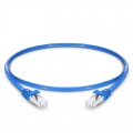 0.3m Cat6 Ethernet Patch Cable - Snagless, Shielded (SFTP) PVC, Blue