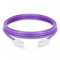 6in (0.15m)Cat5e Non-booted Unshielded (UTP) PVC Ethernet Network Patch Cable, Purple