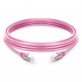 6in (0.15m) Cat6 Snagless Shielded (SFTP) PVC Ethernet Network Patch Cable, Pink