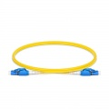 1m (3ft) LC UPC to LC UPC Switchable Uniboot Duplex OS2 Single Mode PVC (OFNR) 2.0mm Fiber Optic Patch Cable
