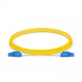 3m (10ft) LC UPC to LC UPC Switchable Uniboot Duplex OS2 Single Mode PVC (OFNR) 2.0mm Fiber Optic Patch Cable