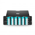 3x MTP-8 to 6x LC Quad, 24 Fibers OM4 Multimode FHD MTP Cassette, 40G/100G to 10G/25G