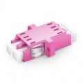 Оптический Переходный Адаптер LC/UPC - LC/UPC 10G Duplex MM(OM4), SC Тип, Пластиковый Фланец, Фиолетовый