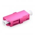 LC/UPC auf LC/UPC 10G Simplex OM4 Multimode LWL-Adapter/Führungshülse aus Kunststoff ohne Flansch, Violett