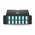 2x MTP-12 to 12x LC Duplex, Type AF, 24 Fibers OM4 Multimode FHD MTP Cassette