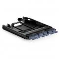Панель с 6 MTP Адаптерами, Key-Up/Key-Down, Чёрный
