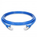Cable de red Ethernet LAN PVC CMX SFTP blindado Cat 6a, 10ft (3m)- Azul
