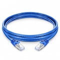 16ft(5m) Cat6a Geschirmtes (SFTP) PVC Ethernet Patchkabel, Snagless, Blau