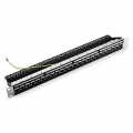 1U 24 Ports Cat5e Shielded Feed-Through High Quality Patch Panel