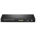 8ポート × 2ユーザー Cat5 1Uラックマウント USB KVMスイッチ(IPリモートアクセス、8インタフェースモジュール付き)