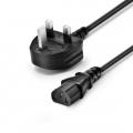 Customized BS1363 to IEC320 C13/C15/C19 UK Power Cord