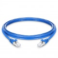 8ft (2.4m) Cat6 Snagless Shielded (SFTP) PVC CMX Ethernet Network Patch Cable, Blue