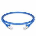 4ft(1.2m) Cat6a Geschirmtes (SFTP) PVC Ethernet Patchkabel, Snagless, Blau