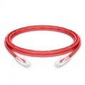 10ft (3m)Cat6 ツメ折れ防止 シールドなし(UTP)イーサネットネットワーク用LANパッチケーブル(PVC CM、赤色)