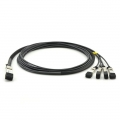 2.5m (8ft) Customized Compatibility 100G QSFP28 to 4x25G SFP28 Passive Direct Attach Copper Breakout Cable
