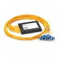 Multiplexor demultiplexor DWDM Mux Demux fibra dual, 16 canales C21-C36, con puerto de expansión, módulo de empalme cola de cerdo de ABS, LC/UPC