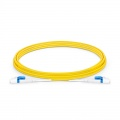 3m (10ft) LC UPC to LC UPC Flat Clip Uniboot Duplex OS2 Single Mode PVC (OFNR) 2.0mm BIF Fiber Optic Patch Cable