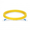 5m (16ft) LC UPC to LC UPC Flat Clip Uniboot Duplex OS2 Single Mode PVC (OFNR) 2.0mm BIF Fiber Optic Patch Cable